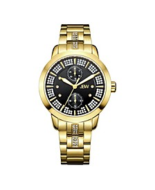 Women's Lumen Diamond (1/20 ct.t.w.) 18k Gold Plated Stainless Steel Watch