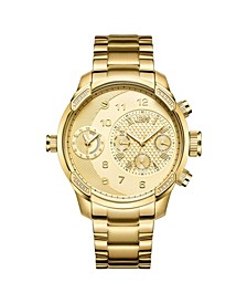 Men's G3 Diamond (1/6 ct.t.w.) 18k Gold Plated Stainless Steel Watch