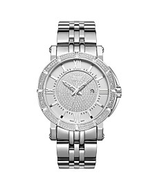 JBW Men's Vault Diamond (1/4 ct.t.w.) Stainless Steel Watch