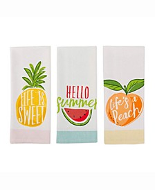 Asset Hello Summer Print Dishtowel Set of 3