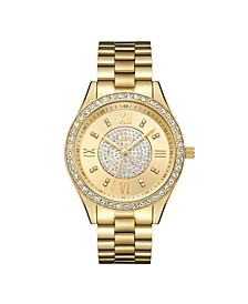 Women's Mondrian Jewelry Set Diamond (1/6 ct.t.w.) 18k Gold Plated Stainless Steel Watch