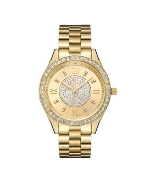 Women's Mondrian Jewelry Set Diamond (1/6 ct.t.w.) 18k Gold Plated Stainless Steel Watch