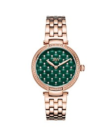 JBW Women's Gala Diamond (1/5 ct.t.w.) 18K Rose Gold Plated Stainless Steel Watch