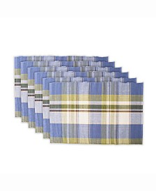 Lake House Plaid Ribbed Placemat Set of 6