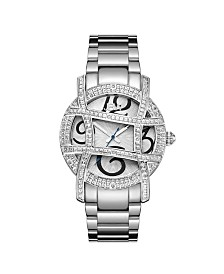 JBW Women's Olympia Diamond (1/5 ct.t.w.) Stainless Steel Watch