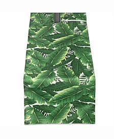 "Banana Leaf Outdoor Table Runner with Zipper 14"" X 72"""