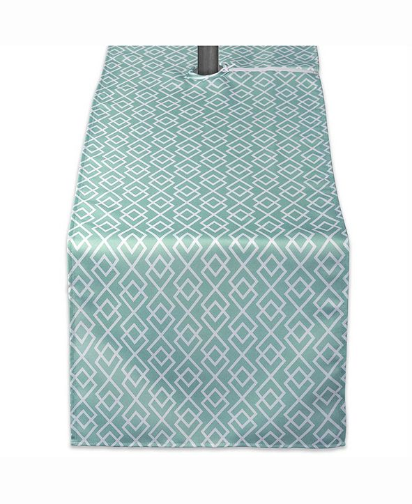 "Design Imports Outdoor Table Runner with Zipper 14"" X 72"""