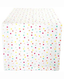 "Multi Polka Dots Print Table Runner 14"" X 72"""