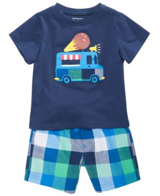 Baby Boys Cotton Plaid Shorts, Created for Macy's