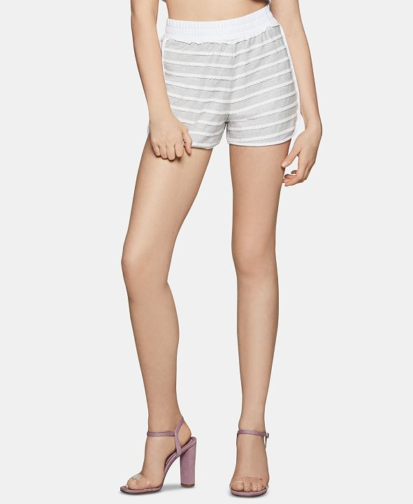 BCBGeneration Scalloped Striped Dolphin Shorts