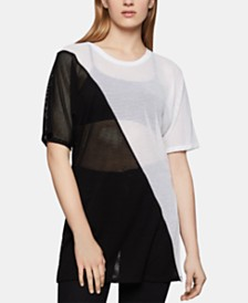 BCBGeneration Colorblocked Tunic Top