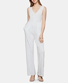 BCBGeneration Striped Knit Jumpsuit