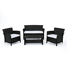 St. Lucia Outdoor 4pc Seating Set