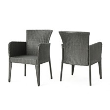 Anaya Outdoor Dining Chair, Quick Ship (Set of 2)