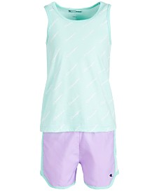 Champion Little Girls 2-Pc. Tank Top & Shorts Set