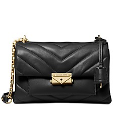 Cece Chevron-Quilted Leather Crossbody
