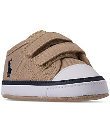 Polo Ralph Lauren Baby Boys' Dyland EZ Layette Crib Sneakers from Finish Line