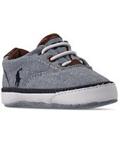 36bbae39e7 Polo Ralph Lauren Baby Boys' Vaughn II Layette Slip-On Sneakers from Finish  Line
