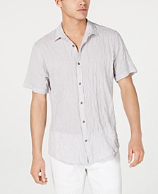 INC Men's Crinkled Camp Shirt, Created for Macy's