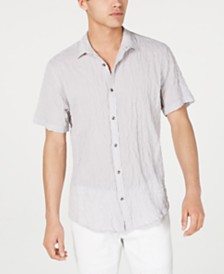 I.N.C. Men's Crinkled Camp Shirt, Created for Macy's
