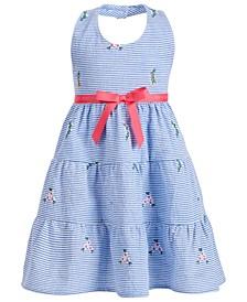 Toddler Girls Halter-Style Seersucker Dress