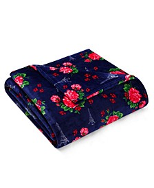 Betsey French Floral Passport Blue Full/Queen Blanket