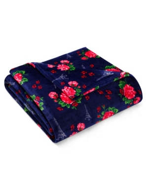 Betsey French Floral Passport Blue Full/Queen Blanket Bedding