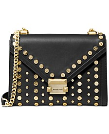 Whitney Studded Leather Shoulder Bag