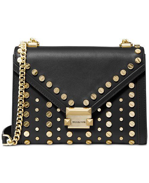 Whitney Studded Leather Shoulder Bag