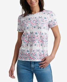 Lucky Brand Cotton Botanicals Print T-Shirt