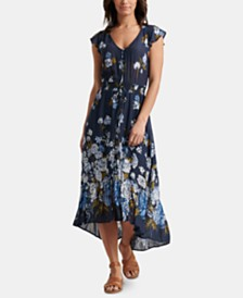 Lucky Brand Felice Floral-Print High-Low Dress