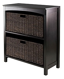 3Pc Storage 3-Tier Shelf with 2 Large Baskets