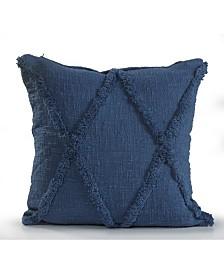 Tufted Diamond Shaped Throw Pillow