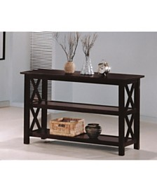 Glenview Sofa Table with 2-Shelf