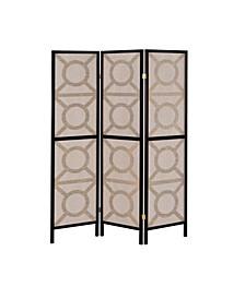 Manchester Circle Pattern 3-Panel Folding Screen