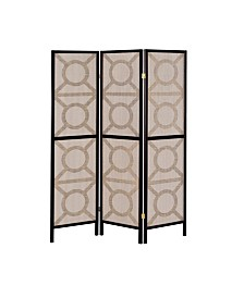 Manchester Circle Pattern 3-Panel Folding Screen
