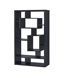 Mystic Asymmetrical Cube 10-Shelf Bookcase