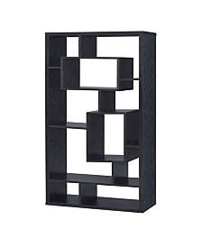 Mystic Asymmetrical Cube 10-Shelf Bookcase