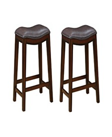 Boone Backless Counter Height Stools with Nailhead Accents (Set of 2)