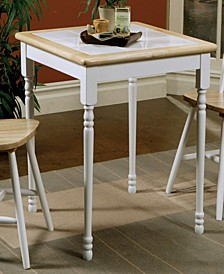 Augustin Square Tile Top Casual Dining Table
