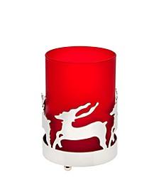 Deer Glass & Metal Votive