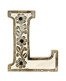 Albion Carved Wood L Initial