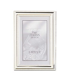 "Lawrence Frames Metal Picture Frame Silver-Plate with Delicate Beading - 5"" x 7"""