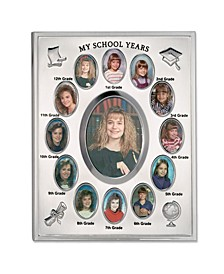 "My School Years Silver Plated Multi Picture Frame - 8"" x 10"""