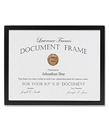 "Black Wood Certificate Picture Frame - Gallery Collection - 8.5"" x 11"""