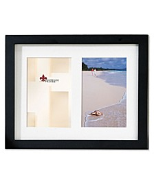"Black Wood Double Matted Picture Frame - 5"" x 7"""