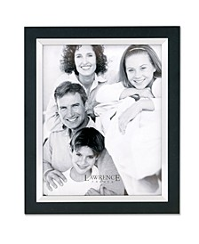 "Black Wood with Silver Metal Inner Bezel Picture Frame - 8"" x 10"""