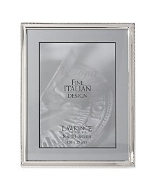 "Lawrence Frames Polished Silver Plate Picture Frame - Bead Border Design - 8"" x 10"""