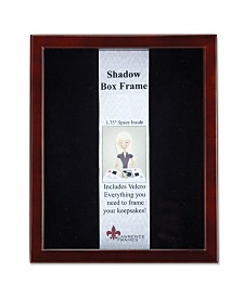 "Lawrence Frames 790180 Espresso Wood Shadow Box Picture Frame - 8"" x 10"""