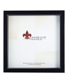 "Lawrence Frames 795088 Black Wood Treasure Box Shadow Box Picture Frame - 8"" x 8"""